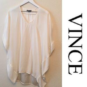 Vince 100% Silk Cocoon Tunic Dress L